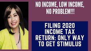 Get Missing Stimulus Money: No Income, No Problem: Just File 2020 Income Tax Return