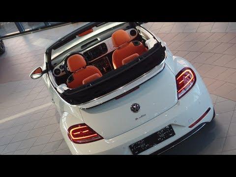 Volkswagen Beetle Cabrio 2017 exlusive series Pure White met Oranje leer! Uniek!