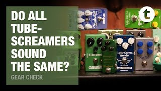 Ultimate Tubescreamer Comparison | 22 Pedals compared & tweaked | Thomann