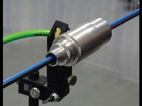 Video of high thrust jet, using compressed air for product movement, redirection, cooling, drying.