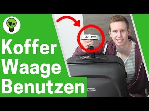 Kofferwaage benutzen ✅ ULTIMATIVE ANLEITUNG: Koffer richtig wiegen durch digitale Gepäckwaage!!!