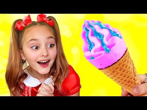 Sasha plays Edible and Real Ice Cream Challenge