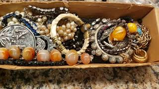 Huge Art Deco 1930s-1950s Czech Beads, Murano Glass, Costume Jewelry And Vintage Purse Haul