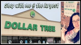 Shop with me at the LARGEST DOLLAR TREE in the World | Part 1