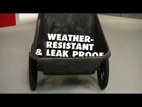 Product video for Heavy Duty Big Wheel Cart, 7.5 Cubic Foot, Assembled, Black