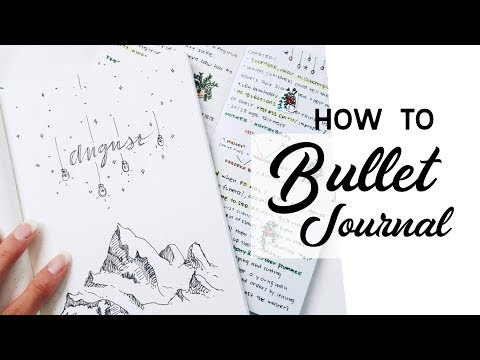 How To Bullet Journal // a step by step guide for beginners