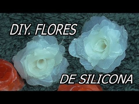 DIY HACER ROSAS, HACER FLORES DE SILICONA, HOT GLUE ROSES