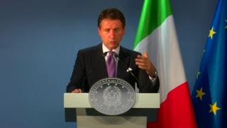 Bruxelles, conferenza stampa del Presidente Conte