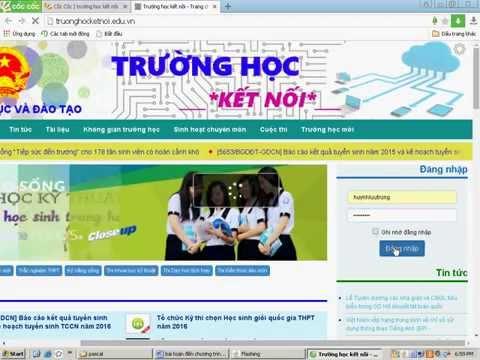 Huỳnh Lưu Trung - Hướng dẫn đăng bài lên truonghocketnoi.edu.vn
