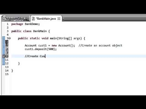Java Tutorial 10: Create a simple Bank Account
