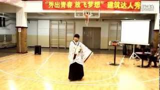 Chinese girl dancing in traditional costume (hanfu)  -- 1