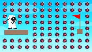 NOOB vs 1,000 Mines! (Ultimate Chicken Horse)