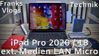 iPad Pro 2020 / 2018 Ipad Air 4 externe Festplatte & LAN & USB Stick Mikrofon & HDMI anschließen