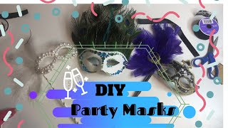 Party Masks DIY ▴ Masquerade Mask Ideas 2020