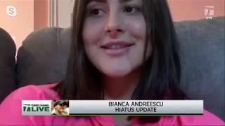 Tennis Channel Live: Bianca Andreescu Gives Update on Her Quarantine Routine