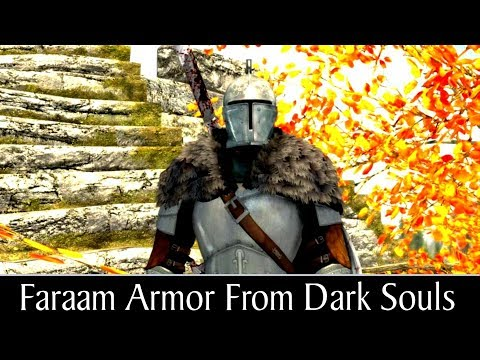 skyrim special edition Dark Souls Armor pack mod showcase