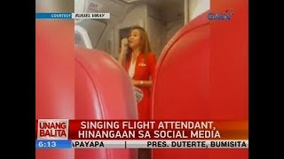 Singing flight attendant, hinangaan sa social media