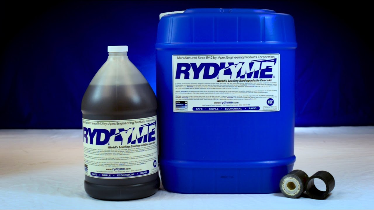 RYDLYME Removes Scale Deposit from Pipe