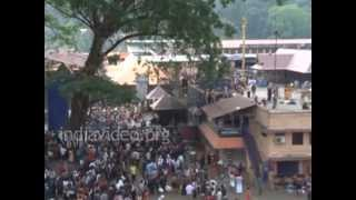 Devotees performing art form at Sannidanam, Sabarimala