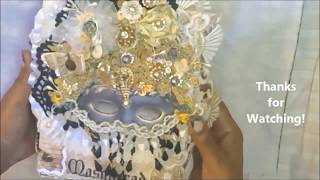 The Masquerade Journal-(GONE THANK U!)2 signature-3d details-embroidery french lace-designer papers