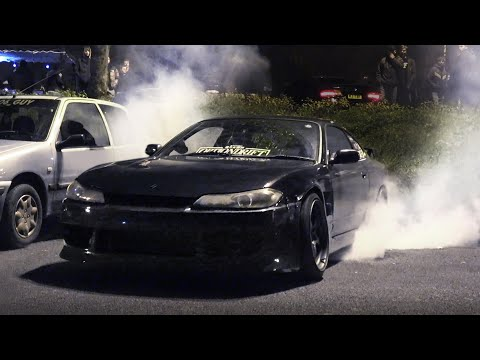 Modified Cars Leaving a Car Meet - November 2019
