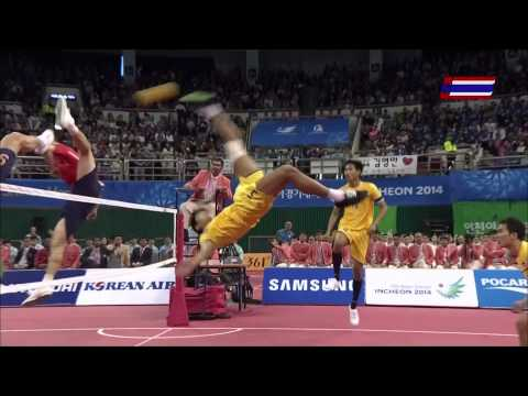 Thailand - Korea 2014 ASIAN GAMES SEPAKTAKRAW -Gold Medal Match