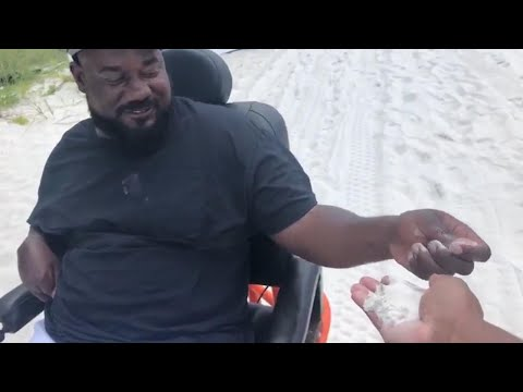 Man With Cerebral Palsy Visits Beach for the First Time in Special Wheelchair
