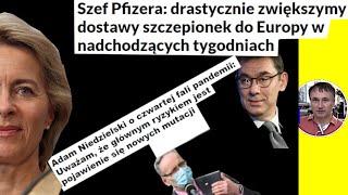 Dr Z.Kękuś PPP 326 Zawiadomiłem A. Niedzielskiego, że UE i Pfizer planują koronawirusowe tsunami