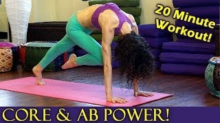 20 Minute Yoga Workout for Core Strength, Abs & Arms, Power Plank Pose Fitness Training Routine by PsycheTruth