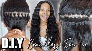 BRAIDLESS SEW-IN TUTORIAL *STEP BY STEP* FT. Klaiyi Hair ♥︎