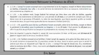 COMMENT RETROUVER LA PRÉSENCE DE JÉSUS ?