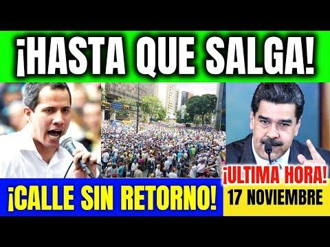 VENEZUELA HOY Guaidó en calle hasta que cese usurpación Maduro Ultimas Noticias 17 noviembre