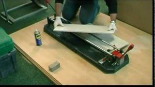 How to cut porcelain tiles.