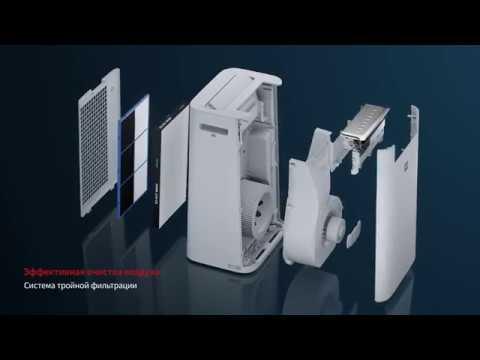Очиститель воздуха с функцией увлажнения Sharp KCG41RW