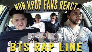 NON KPOP FANS REACT TO BTS RAP LINE (AGUST D, CYPHER PT.2, DAYDREAM) | CAR RIDE EDITION