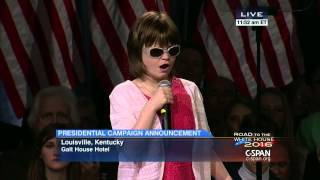 Marlana VanHoose sings National Anthem at Rand Paul Event (C-SPAN)