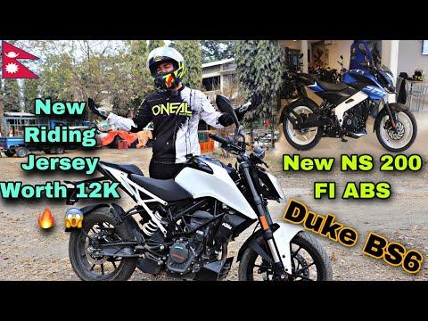 New NS 200 BS6 in Nepal 🤔??|Duke 200 BS6 Test Ride Vlog | AKR @NBB