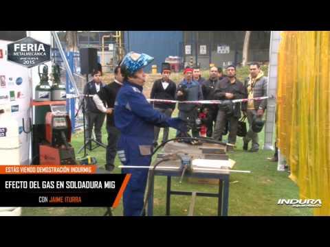 Efecto del gas en soldadura Mig - Jaime Iturra