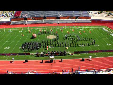 Hendrickson Hawk Band UIL Area Marching Contest 2014 play