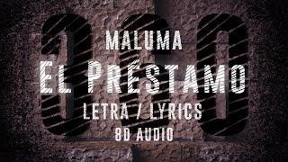 Maluma   El Préstamo   360° Letra ( Lyric Video )   8D Audio Version    Dawn Of Music   