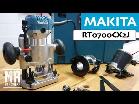 Die perfekte Oberfräse für den Einsteiger MAKITA  RT0700CX2J