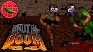 64-BIT PVP ORGAN PARTY! -- Let's Play Brutal Doom 64 (DEATHMATCH)