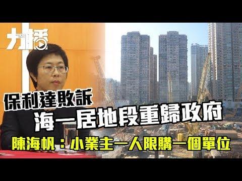 陳海帆:小業主一人限購一個單位