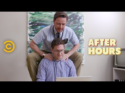 Office Erotic Asphyxiation with James McAvoy - After Hours with Josh Horowitz (видео)