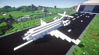 Самолёт в Minecraft.