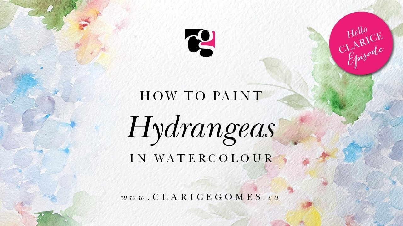 How to Paint Hydrangeas in Watercolour