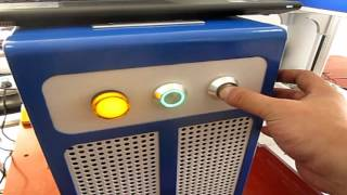 How to operate the Small desktop laser engraving machine