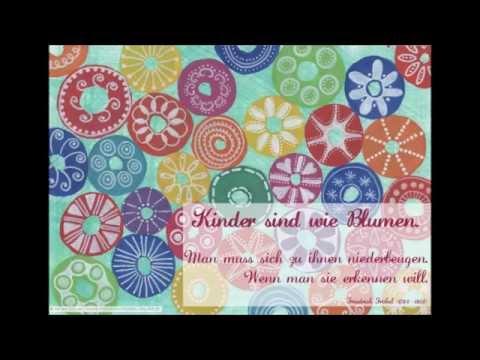 FRÖBEL-POSTER für Kindergarten + Schule: Kinder sind wie Blumen