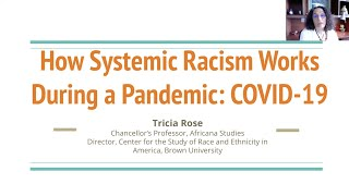 """Tricia Rose, """"How Systemic Racism Works During a Pandemic: COVID-19"""""""