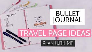 Travel Bullet Journal Setup   Plan With Me